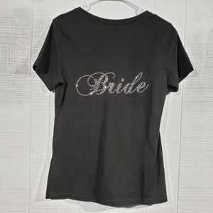 NWOT Bedazzled Bride Tee E67